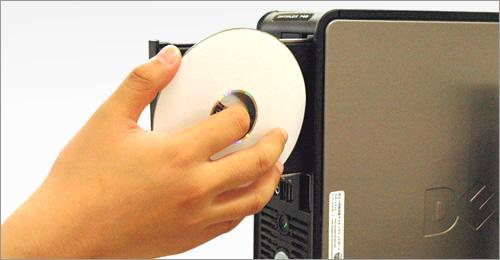CD-Rをパソコンにセット